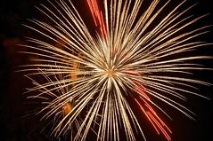 fireworks, 50th anniversary, international bridge (twurdemann) Tags: ontario night fireworks michigan kaboom boom celebration 50thanniversary saultstemarie pyrotechnic internationalbridge stmarysriver twinsaults canadaunitedstatesborder