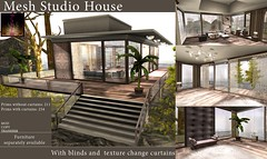 [LeeZu!] Mesh Studio House (Vixie Rayna) Tags: house home architecture studio living mesh secondlife lbd leezubaxter leezu