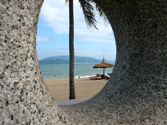 through the looking glass II (astroboy_71) Tags: sea sculpture abstract color colour art beach water colors stone colorful asia southeastasia colours view hole vietnam granite nhatrang southeastasiaimages