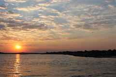 Zambezi Sunset 1 (barbourians) Tags: sunset sky water clouds river boat view zimbabwe zambia sunsetting zambezi