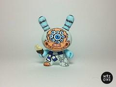 """3"""" SnowEyes (WuzOne) Tags: vinyl kidrobot custom yeti commission dunny designertoy ojitos munny artoy wuzone"""
