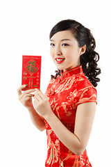 Happy Chinese New Year (wu.peng) Tags: people classic love smiling fashion female season engagement spring clothing holding women dress joy gesturing style happiness chinesenewyear east advertisement blessing celebration event harmony luck mandarin cheerful greeting luxury abundance oneperson wealth prosperity traditionalculture wishing mandarinorange elegance garment cheongsam eastasia chineseculture youngwomen traditionalclothing handsclasped congratulating traditionalfestival oneyoungwomanonly asianculture fabricswatch redenvelop asianethnicity celebrationevent onlyyoungwomen chineseethnicity asianandindianethnicities malaysianperson