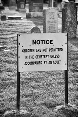Rules for Dying (lynn.h.armstrong) Tags: camera light bw sunlight white ontario canada black art church monochrome grass sign dark children lens geotagged photography photo interesting mac aperture nikon long flickr notice zoom south cemetary wb images graves lynn h getty salem nikkor tombstones armstrong stormont vr licence afs request dx sault attribution ingleside ifed 18200mm f3556 noderivs vrii summerstown d7000 lynnharmstrong
