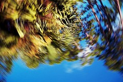 Autumn stalks the Heat of Summer (Zoom Lens) Tags: camera abstract motion blur art fling strange photo movement surrealism spin surreal blurred flip sling spinning chuck pitch dada launch propel airborne throw icm throwing catapult whirling thrown dadaism heave thrust spun whirl kineticphotography lob whirled impel abstractionism inmotionmotionblurred intentionalcameramovement letfly kineticphotograph blurism kineticartphotography johnrussellakazoomlens copyrightbyjohnrussellallrightsreserved setdrawingwithlightvertigo