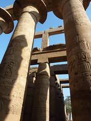 Karnak, salle hypostyle, colonnade sculptée en creux, XIXè dynastie (juillet2012) Tags: karnak egypte