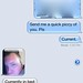 <p>My son showed me how to do free messaging on the iPhone so we had a bit of a conversation going back and forth. </p>