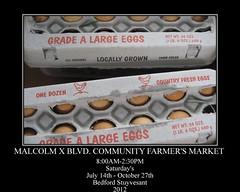 Malcom X Blvd Community Farmers Market Motivator (Brown Betty) Tags: food brooklyn farmersmarket market eggs bedstuy fresheggs malcolmxblvd locallygrown