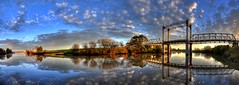 Hinton Bridge Panorama (paulhollins) Tags: bridge hinton timbertruss australiasbestreflections