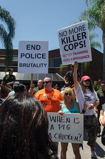 From http://www.flickr.com/photos/46959433@N05/7679605308/: Police Brutality Protest - Anaheim