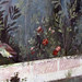Painted Garden, Villa of Livia, detail with bird on wall