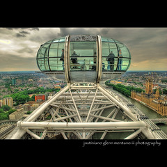 Flight on the London Eye (j glenn montano 3) Tags: england house london eye river britain glenn great flight parliament british olympics hdr montano 2012 themes gbr justiniano
