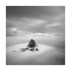 The End Game (Nick green2012) Tags: longexposure blackandwhite lighthouse seascape square end lands seastack