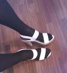 White Sandals (Julia Cool) Tags: cool julia tights transgender sissy transvestite heels pantyhose trap calze strumpfhosen collant transgenderpantyhose juliacool