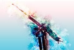 EDM PKC (Tanker_Tom) Tags: war art color kurdistan iraq pkc gun machine