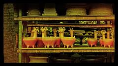 HORNY POTS (akahawkeyefan) Tags: pots shelves kingsburg davemeyer