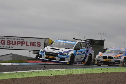 Colin Turkington in BTCC race 2 during the Knockhill Weekend 2016