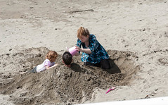 Lets bury Daddy???? (swordscookie back and trying to catch up!) Tags: burydaddy beach family game sand sun sea bucket enthusiasm coclare ireland wildatlanticway
