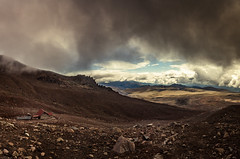 Chimborazo volcan at 5.100m elevation with Whymper Refuge in sight (Steven-CH) Tags: stratovolcano ecuador travel eos6d 6263m chimborazo whimperrefuge canon mountain southamerica clouds ec breath taking landscapes 5100m