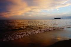 mirror of sand (Hal Skygene) Tags: sand reflection mirror sky sea cloud island japan asia asian beach shore seashore landscape cloudy sunset light sun sunshine color