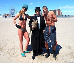 Dr. Takeshi Yamada and Seara (Coney Island Sea Rabbit) visited the Coney Island Polar Bear Club at the Coney Island Beach in Brooklyn, New York on April 3 (Sun), 2016. mermaid. merman.  20160403Sun DSCN4914=4038pC1. Ellainne Pavlova. Antonio Tomahawk (searabbits23) Tags: searabbit seara takeshiyamada  taxidermy roguetaxidermy mart strange cryptozoology uma ufo esp curiosities oddities globalwarming climategate dragon mermaid unicorn art artist alchemy entertainer performer famous sexy playboy bikini fashion vogue goth gothic vampire steampunk barrackobama billclinton billgates sideshow freakshow star king pop god angel celebrity genius amc immortalized tv immortalizer japanese asian mardigras tophat google yahoo bing aol cnn coneyisland brooklyn newyork leonardodavinci damienhirst jeffkoons takashimurakami vangogh pablopicasso salvadordali waltdisney donaldtrump hillaryclinton polarbearclub