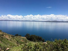 Taquile, Lake Titicaca, Peru (zzhing) Tags: taquile peru lake titicaca blue water skies clouds