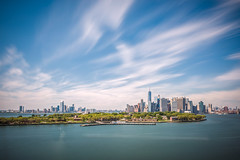 The Long Goodbye (duncan_mclean) Tags: lee qm2 queenmary2 nyc newyorkcity le bigstopper cityscape leefilters city harbour longexposure
