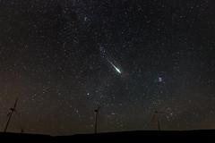 Perseid burning up in atmosphere (vovask) Tags: perseidmeteorshower perseids greece meteor astrophotography achaia turbine windturbine longexposure nightphotography lowlight stars eos70d