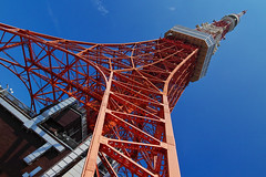 ~a blue sky after a typhoon~ (Kimiron) Tags: sigma sdq sdquattro foveon art 1835mm tokyo japan tokyotower tower sky blue red