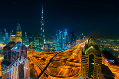 Dubai by the night  (reedit) explored 11 Sept 2016 (Mustafa Kasapoglu) Tags: dubai city cityscape uae urban urbanlife nightphoto nightphotography nightshot nights nikon d810 glamorous light architecture