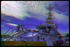 Sault St. Marie Ship 3-D / Anaglyph / Stereoscopy / HDR / Raw (Stereotron) Tags: saultstemarie thegreatlakes lakesuperior huronbay georgianbay ship marine coastal guard maritime railing radar anaglyph anaglyph3d redcyan redgreen optimized anaglyphic anabuilder 3d 3dphoto 3dstereo 3rddimension spatial stereo stereo3d stereophoto stereophotography stereoscopic stereoscopy stereotron threedimensional stereoview stereophotomaker stereophotograph 3dpicture 3dglasses 3dimage twin canon eos 550d yongnuo radio transmitter remote control synchron in synch kitlens 1855mm tonemapping hdr hdri raw