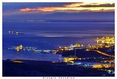 vista da lontano (Giorgio Serodine) Tags: trieste disera dalontano tele cano luci orizzonte molo citta paesaggio friuli mare porto golfo navi montagne nuvole sera