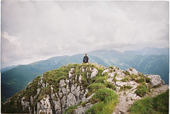 (habologique) Tags: slovakia slovensko sivy vrch mountains hike rocks landscape nature view outdoor people backportrait analog analogue 35mm film kodak colorplus 200 nikkor f3 24mm wideangle human lonesome quiet peaceful kanken fjallraven
