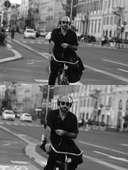[La Mia Citt][Pedala] (Urca) Tags: milano italia 2016 bicicletta pedalare ciclista ritrattostradale portrait dittico nikondigitale mir bike bicycle biancoenero blackandwhite bn bw bnbw 881137