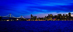 City Skyline at Night viewed from Treasure Island San Francisco CA (mbell1975) Tags: sanfrancisco california unitedstates us city skyline night viewed from treasure island san francisco ca usa america american cal calif sf bay pacific cove ocean water cityskyline skyscrapers skyscraper office building buildings lights dusk blue hour pano panorama panoramic vista