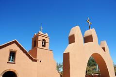 Colonial church in San Pedro de Atacama / Chile (anji) Tags: chile southamerica americasur latinamerica northernchile sanpedrodeatacama atacamadesert