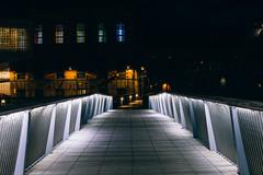 Bridge in the night (Linus Wrn) Tags: sweden norrkping bridge light nightlights night nightphotography