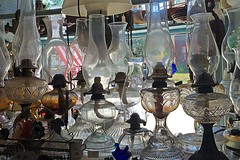 Oil Lamps (AntyDiluvian) Tags: boston massachusetts northshore essex capeann antiques antiqueshop howardsflyingdragonantiques vintage lamp oillamp wick