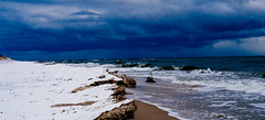 Sea in winter (Mr. AKK) Tags: sea winter water weather waves ominous atmosphere landscape beach tides