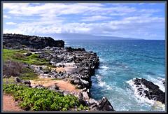 Looking toward Molokai (WanaM3) Tags: wanam3 nikon d750 nikond750 hawaii maui kapalua oneleobay ocean pacificocean waves shoreline seascape vista bluewater molokai haweapoint