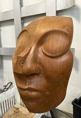 9-17-16 Face Carving (Kruvczuk1) Tags: carvedfacewood turing