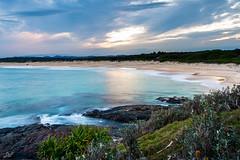 Wilsons Head II (David Field (Sydney)) Tags: headland landscape seascape sunset sun light glow clouds mood water rocks bush nature sea ocean beach nsw australia sydney canon winter beautiful travel