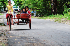 Indonesian Children and Bicycle (iecharleton) Tags: indonesia padang pacificpartnership pacificpartnership2016 westsumatra bicycle children pp16