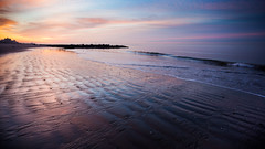 At A Low Tide (Tim Drivas) Tags: beach ocean waterfront water sunrise dawn colorful lowtide sand atlanticocean newyorkcity brooklyn outdoors