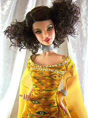 Fine art and beauty (partydolly) Tags: portrait art fashion museum doll fine barbie klimt collection gustav partydolly