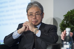 Koji Kuroda listens at the panel discussion