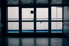 . (oOTheSmallOneOo) Tags: door shadow sea reflection window water silhouette fog ferry denmark ship balticsea