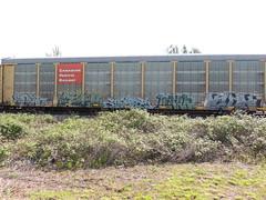 Spek ICH Arsen Learn Lack (GraffStoleMyLife) Tags: train circle t graffiti tag 63 yme piece ich learn freight ichabod lack arsen jec spek