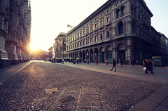 . (Nicol Panzeri) Tags: sunset people italy milan canon person italia tramonto gente milano wideangle cobblestones persone grandangolo lombardia 1022 gettyimages duomodimilano lombardy cathedralsquare piazzadelduomo canon1022 corsovittorioemanueleii galleriavittorioemanueleii pav canon450d nicolpanzeri cattedralemetropolitanadisantamarianascente