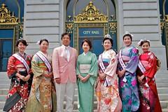 Hiroshi and Midori Inomata and 2012 NCCBF Court - 2012 Northern California Cherry Blossom Festival