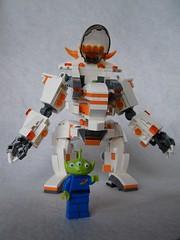 Toy Story Alien mecha front view (GVAfol) Tags: orange lego toystory mecha